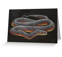 Copperhead live painting Greeting Card