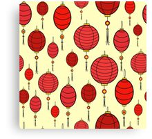 Cute chinese red lanterns Canvas Print