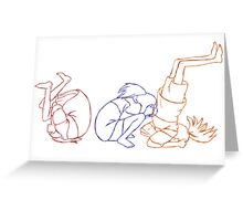Hand drawn animation Key frames - Spirited Away Greeting Card
