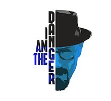 I am the DANGER - Blue/Cyan Photographic Print