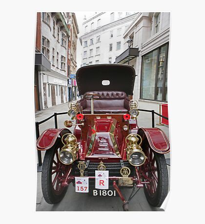 A mors 1902 at the Regent Street Motor Show 2013 Poster