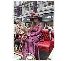 A contestant at the Regent Street Motor Show 2013 in period dress Poster
