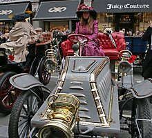 Contestant number 417 at the Regent Street Motor Show 2013 in period dress, by Keith Larby