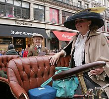 A contestant at the Regent Street Motor Show 2013 in period dress, by Keith Larby