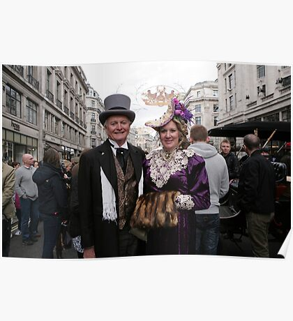 A contestant at the Regent Street Motor Show 2013 in period dress, Poster