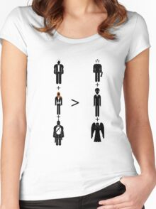 Doctor Who Maths - Season 6, Amy and Rory Women's Fitted Scoop T-Shirt