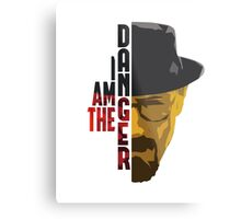 I am the DANGER - Red/Yellow Metal Print