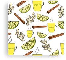 Ginger tea Canvas Print