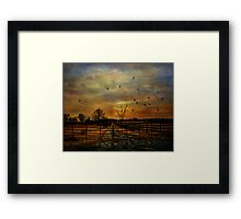 Ending Autumn Framed Print