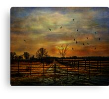 Ending Autumn Canvas Print