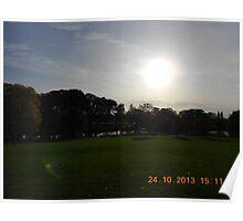 Lake side view Poster