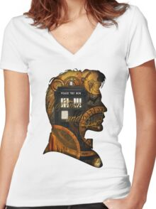 Doctor Who - TimeSpace & Smith Women's Fitted V-Neck T-Shirt