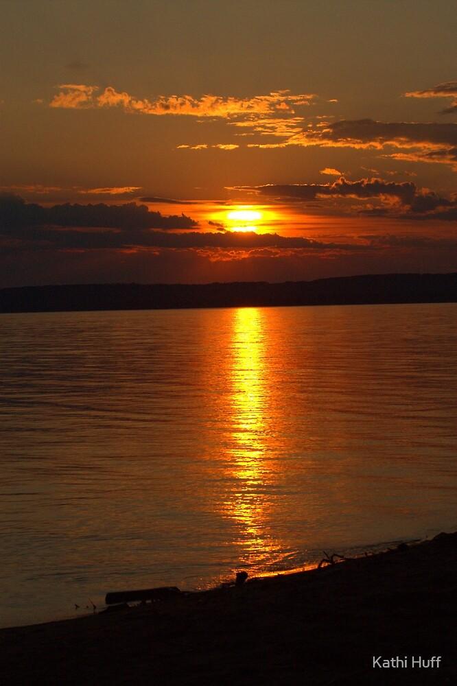 Slave Lake Sunset by Kathi Huff