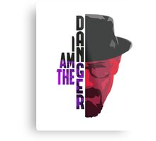 I am the DANGER - Purple/Red Metal Print