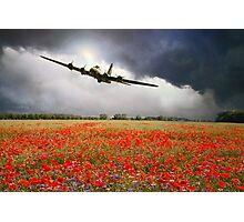 B-17 Poppy Pride Photographic Print