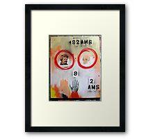 92AMS Framed Print