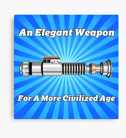 The Lightsaber - An Elegant Weapon Canvas Print