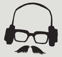 Hipster Face Portrait Music Mustache Glasses by Denis Marsili - DDTK