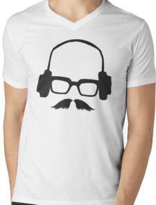 Hipster Face Portrait Music Mustache Glasses T-Shirt