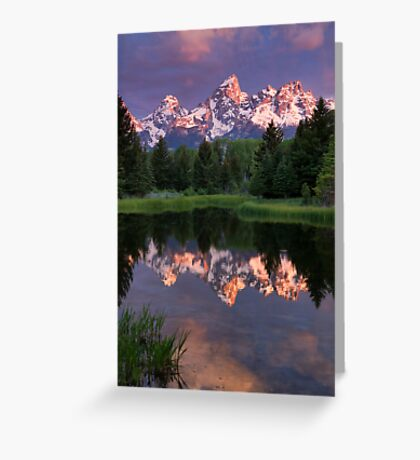 Early Light on the Tetons Greeting Card