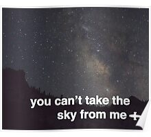 You Can't Take The Sky Poster