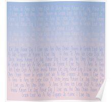 Love Love Love - Rose Quartz and Serenity  Poster