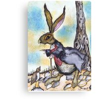 DESTINATIONALLY CHALLENGED HARE Canvas Print