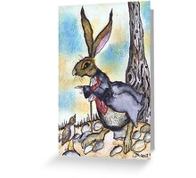 DESTINATIONALLY CHALLENGED HARE Greeting Card