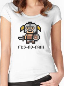 8 Bit Dovahkiin Women's Fitted Scoop T-Shirt