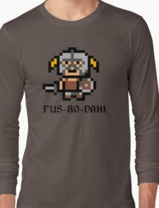 8 Bit Dovahkiin Long Sleeve T-Shirt