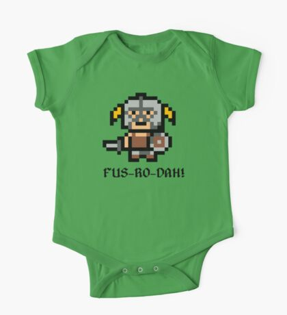 8 Bit Dovahkiin One Piece - Short Sleeve