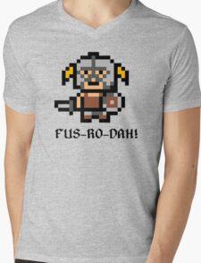 8 Bit Dovahkiin Mens V-Neck T-Shirt