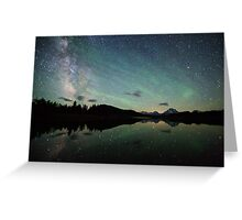 The Milky Way at Oxbow Bend Greeting Card