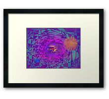 A Bird Flying from the Earth to the Sun Framed Print