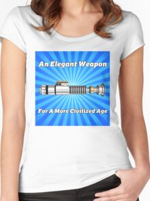 The Lightsaber - An Elegant Weapon Women's Fitted Scoop T-Shirt