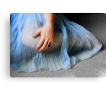 The Blue Gown Canvas Print