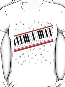 Piano Keyboard Beat It T-Shirt
