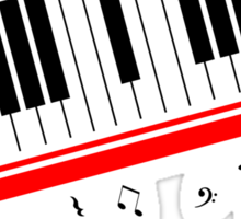 Piano Keyboard Beat It Sticker