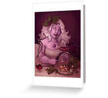 Dionysus Amethystos Greeting Card