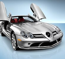 Mercedes Benz SLR McLaren sports car art photo print by ArtNudePhotos
