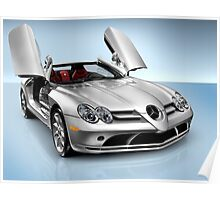 Mercedes Benz SLR McLaren sports car art photo print Poster