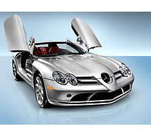 Mercedes Benz SLR McLaren sports car art photo print Photographic Print
