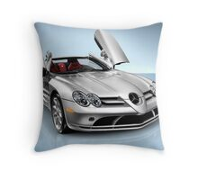 Mercedes Benz SLR McLaren sports car art photo print Throw Pillow