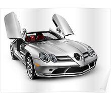 Mercedes Benz SLR McLaren super car art photo print Poster