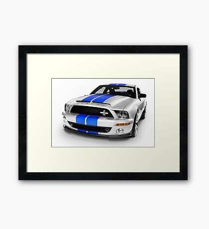 Shelby Ford GT500KR sports car art photo print Framed Print