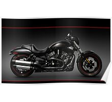 Black Harley Davidson VRSCD Night Rod motorcycle art photo print Poster