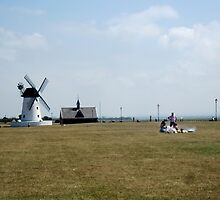 Picnic Time by the Windmill. by ronsaunders47