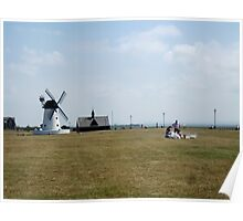 Picnic Time by the Windmill. Poster
