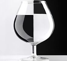 Glass in Black and White art photo print by ArtNudePhotos