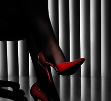 Woman Legs in Red Shoes art photo print by ArtNudePhotos